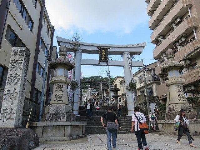 長崎市の諏訪神社入り口