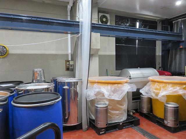 清澄白河フジマル醸造所1階の工場