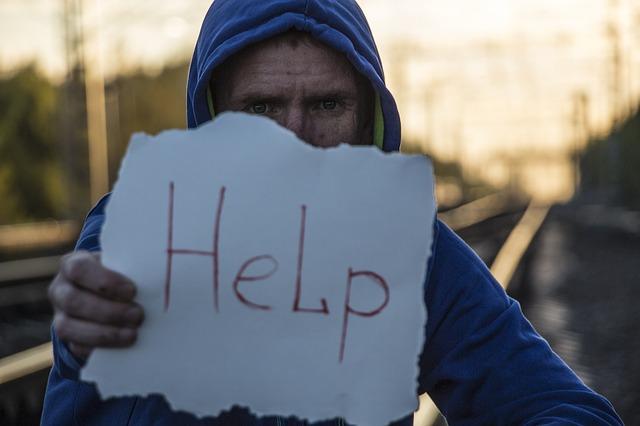 不安を抱えていて助けを求める学生