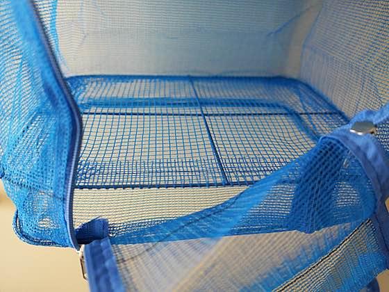 パール金属ひもの干し網3段・一番下の段は二重底になっています