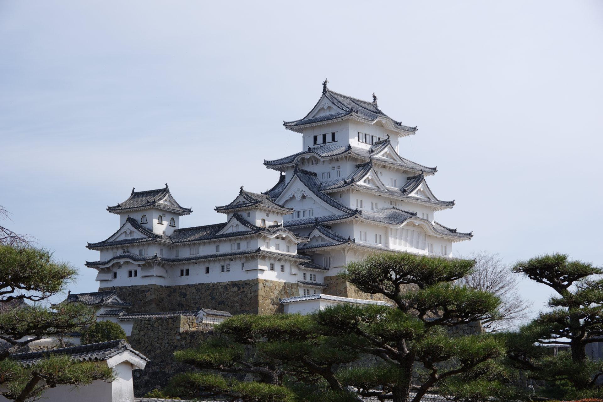 西の丸から望む姫路城大天守【2】