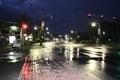 デデド朝市へ向け歩く早朝の道