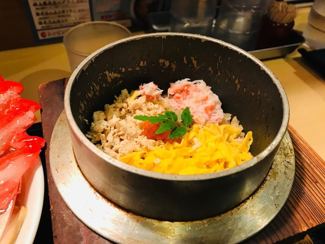 蟹の羽釜飯、オープン!!