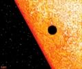 太陽を横切る水星