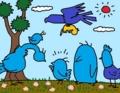 青い鳥を探す青い鳥