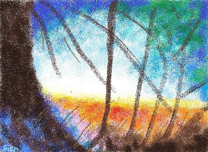 ラブラドライトの中の森