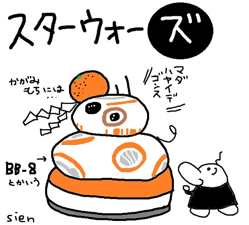 BB-8の鏡餅