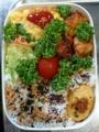大葉入り玉子焼きと鶏から揚げの夜勤2段弁当