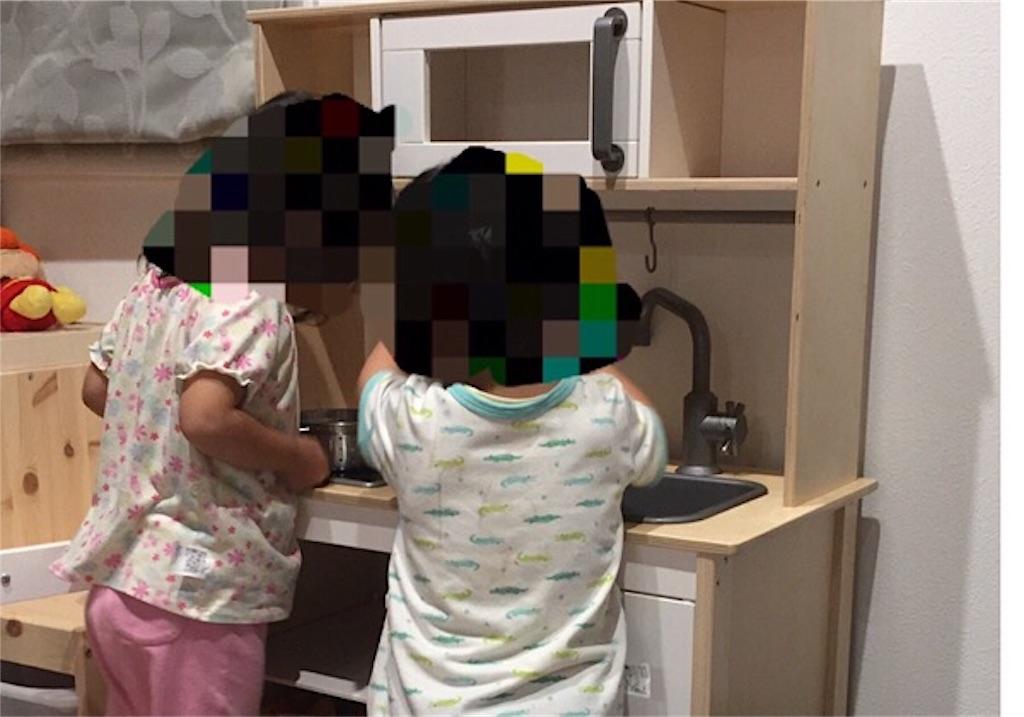 IKEAの木製おままごとキッチン