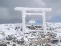 山頂手前の神社