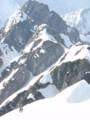 岩峰の連続