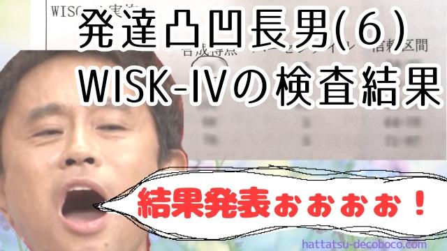 WISK-IV  知能検査 発達障害 結果発表 結果w