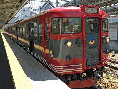 しなの鉄道(115系S13編成)@軽井沢駅(2015-04-29)