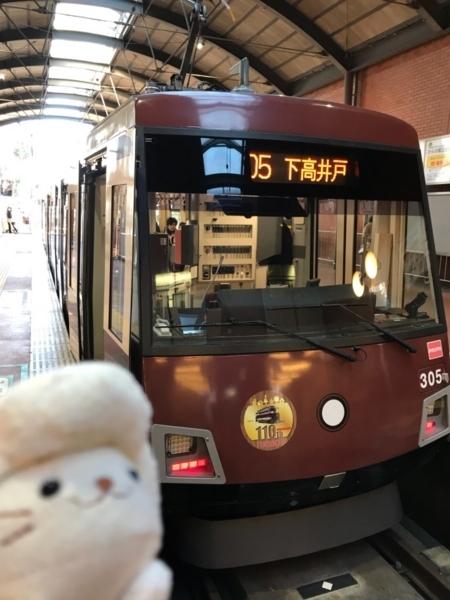 東急世田谷線300系305F(旧車体色ラッピング電車)@三軒茶屋駅