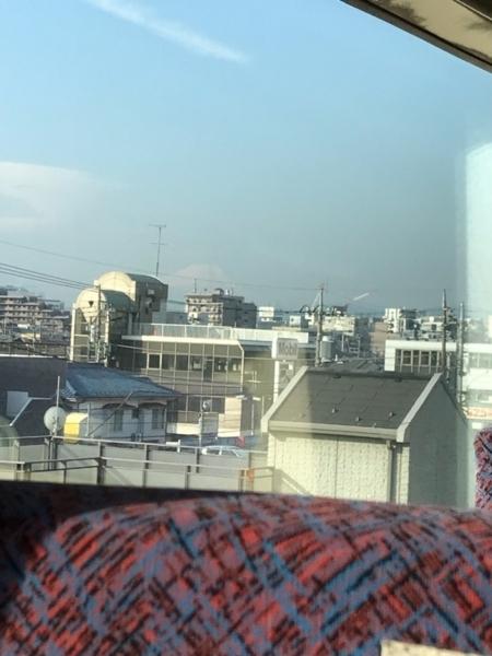 ホリデー快速富士山1号(189系M51編成)から見える富士山