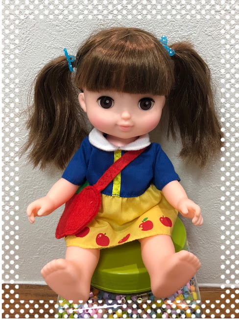 ソランちゃん白雪姫「ようちえんふく」着せ替え!ヘアアレンジも楽しい。