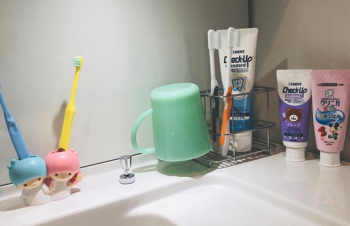 我が家の歯ブラシたち