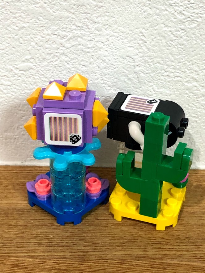 LEGO(レゴ)スーパーマリオ「キャラクターパック」ウニラ&キラー完成(後ろ側)