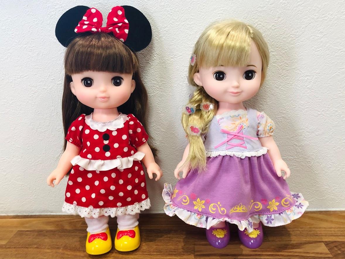 ソランちゃんとコルネちゃん比較・洋服「ミニー」「ラプンツェル」