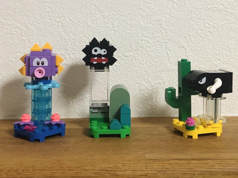 レゴマリオ「キャラクターパック」3つ「ウニラ」「キラー」「チョロボン」