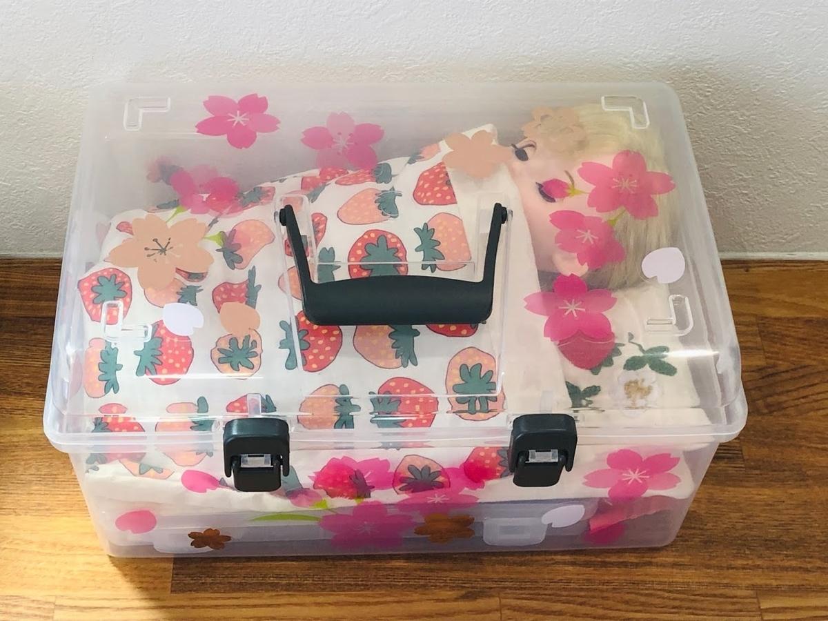 ダイソーでお人形の収納BOX(ソランちゃん、コルネちゃん、メルちゃん)