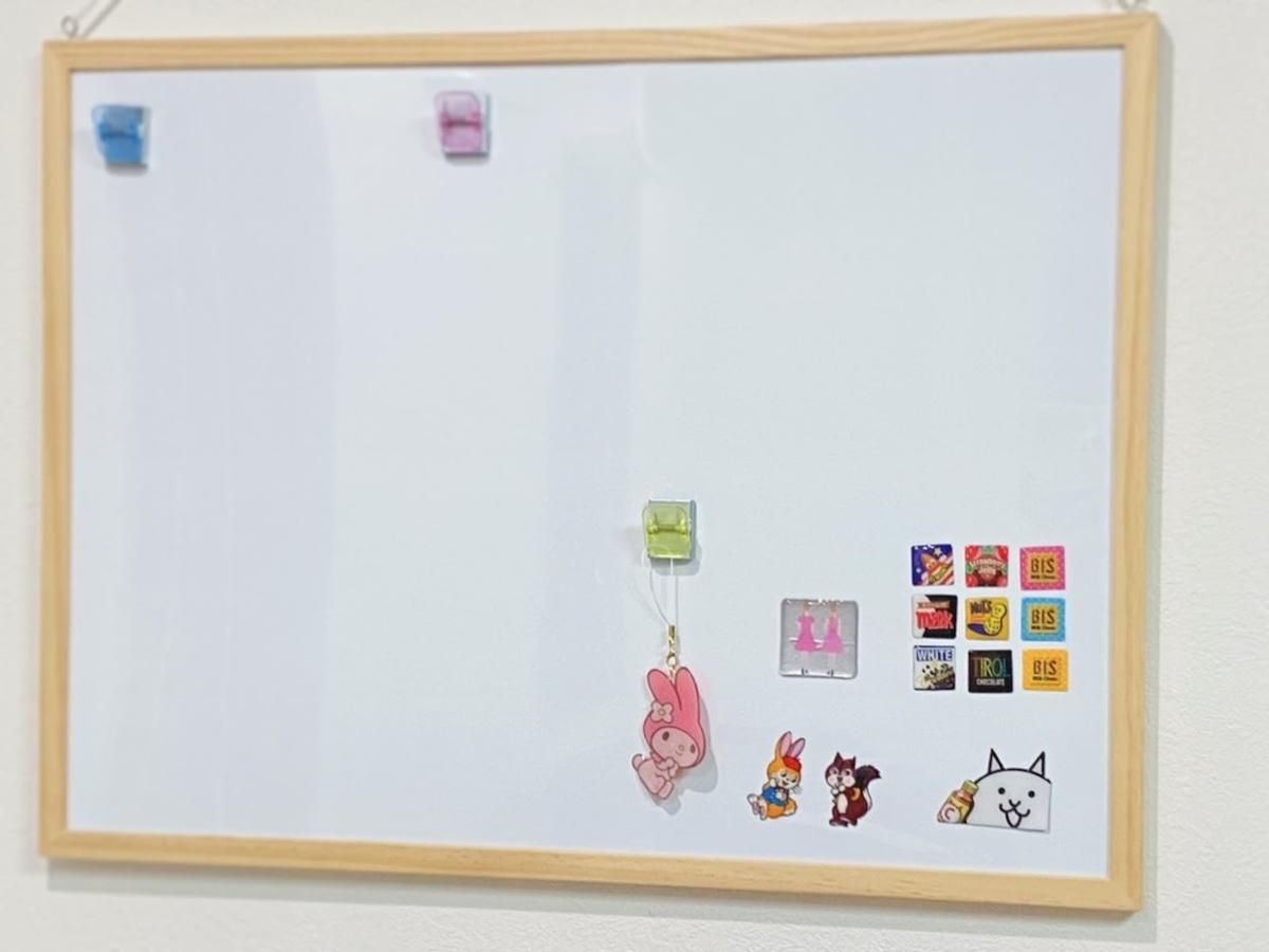 レジン初心者の作品例*お菓子パッケージを使って手作りマグネットはホワイトボードに