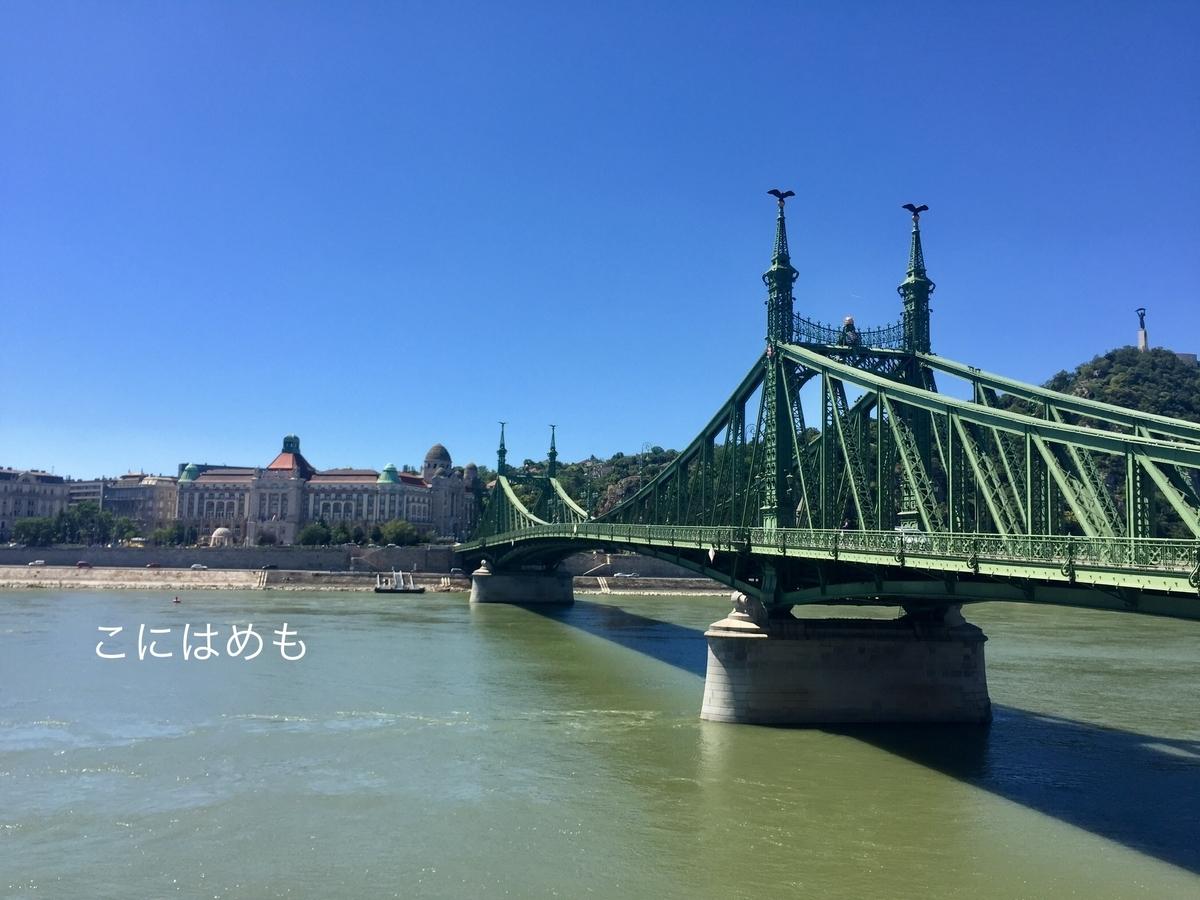 雲ひとつないお天気のブダペスト。