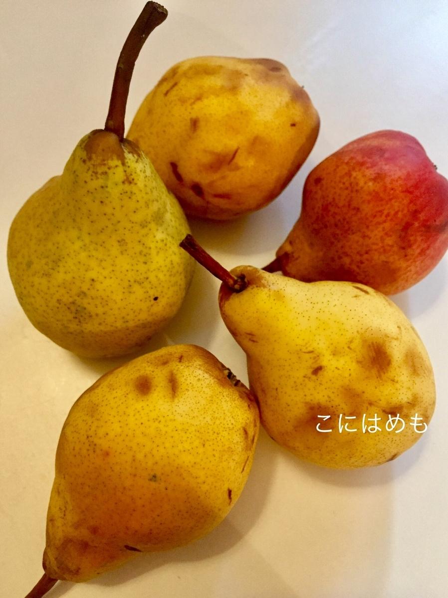 よく熟れた洋梨。Vilmos körte:ヴィルモシュ クルテ。