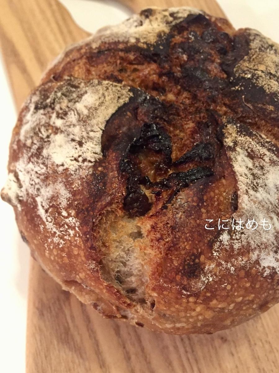 【天然酵母】ゴムベラで混ぜて作る「ドライプルーンとくるみの天然酵母パン」