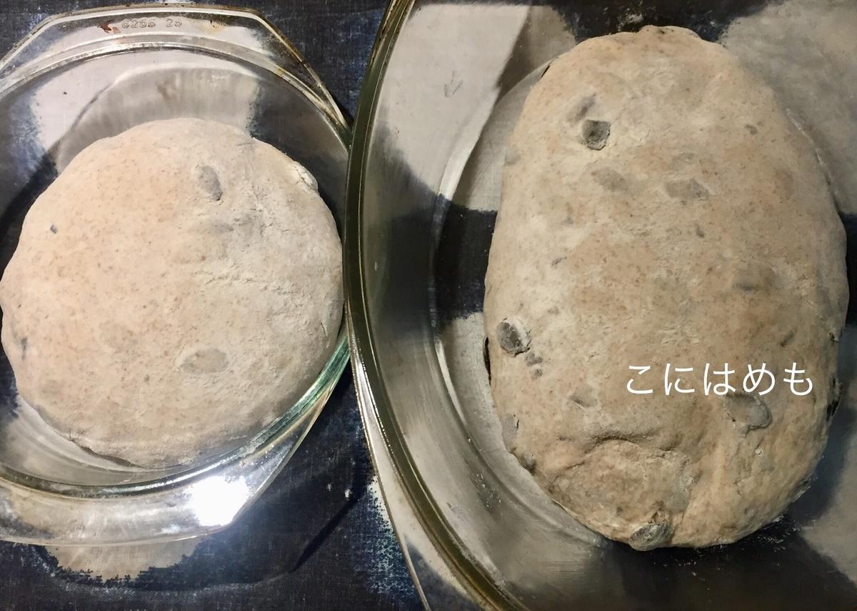 パン生地を耐熱容器に入れる。