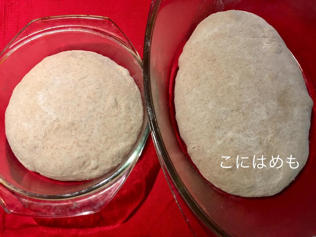 パンの成形後、耐熱容器に入れる。
