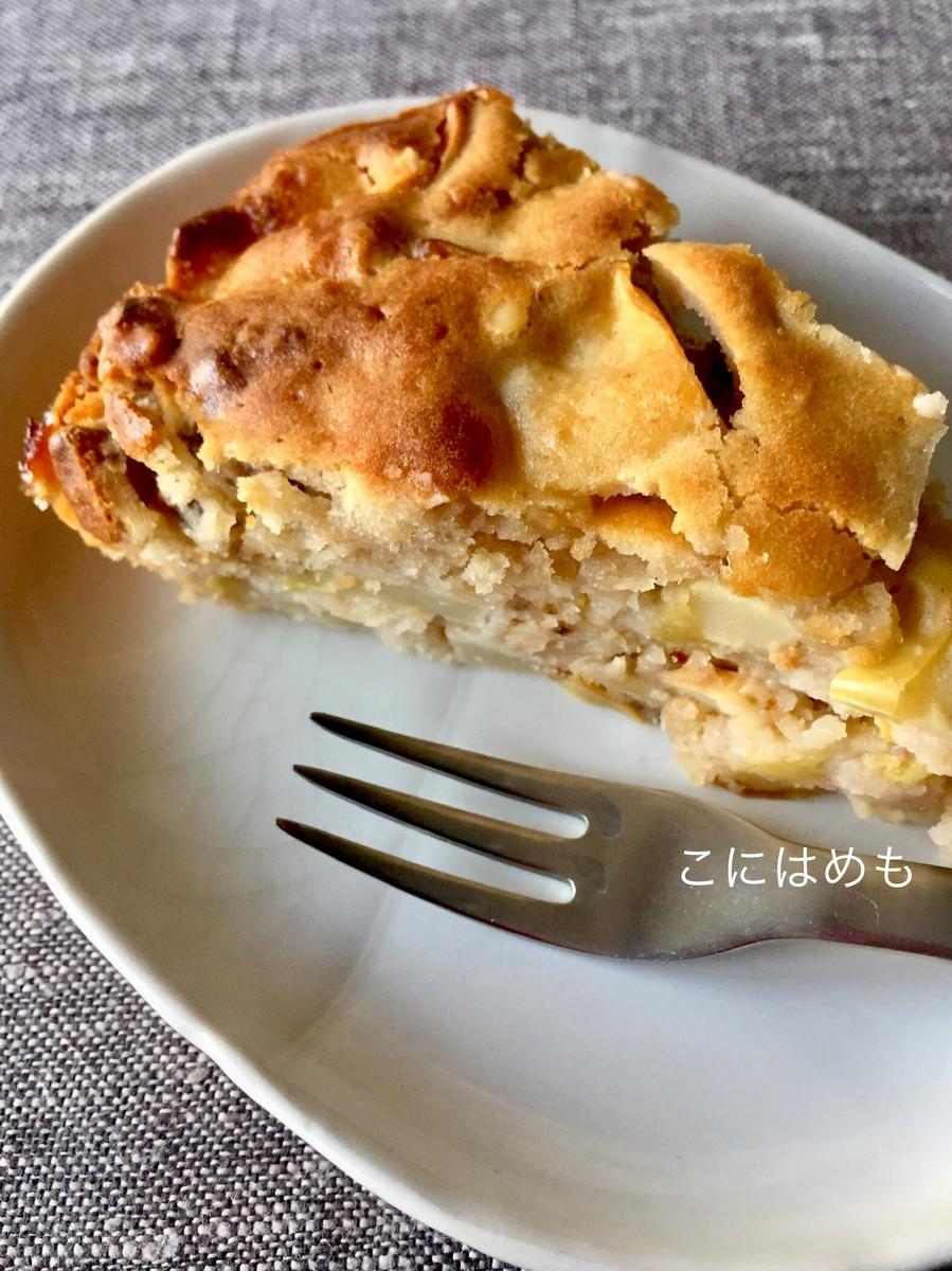 簡単!ボウルひとつ、スプーンひとつで作る「りんごとくるみのケーキ」