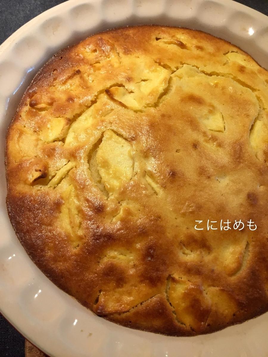 1時間でケーキを作る!簡単「りんごとヨーグルトのケーキ」