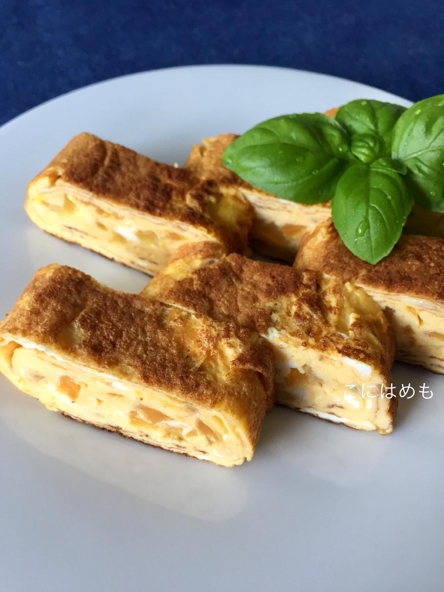 パルメザンチーズを隠し味に!洋風パプリカの卵焼き。