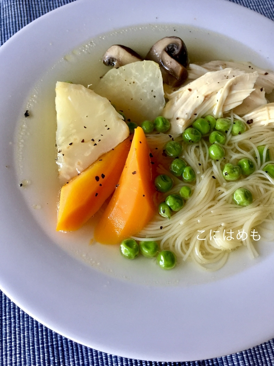 ヘルシーに作る!「鶏むね肉とお野菜たっぷりスープ」