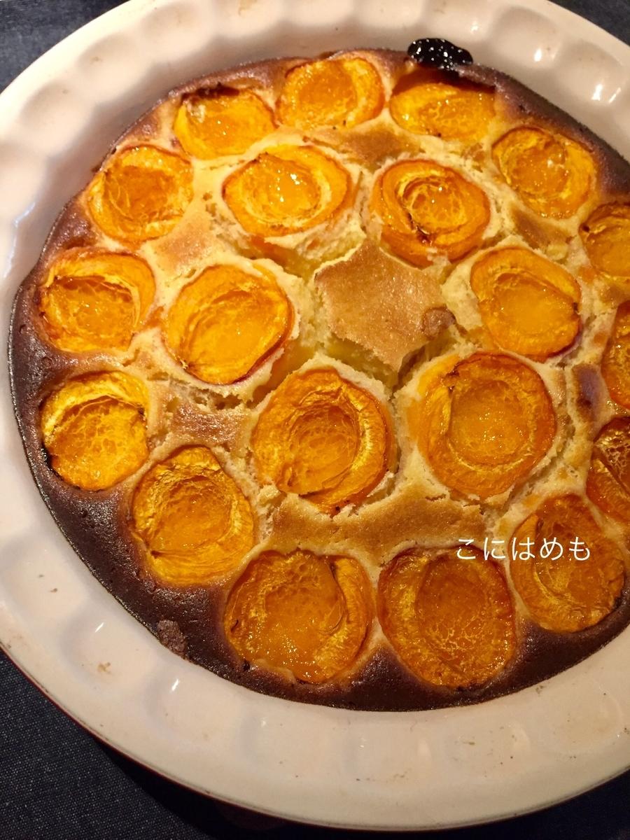 オーブン160℃で約40分焼く。