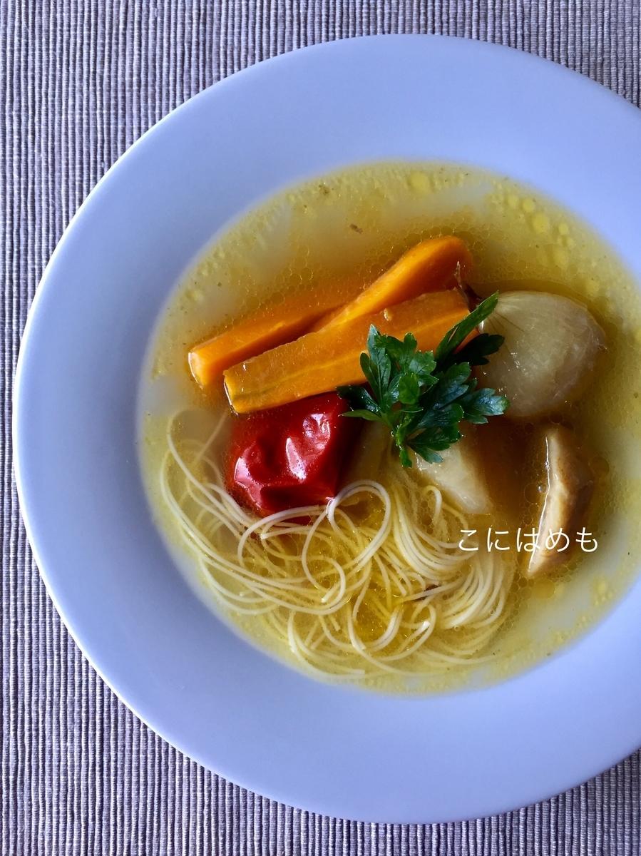【ハンガリー料理 】鶏肉のコンソメスープ「Csirkehúsleves: チルケフーシュレヴェシュ」