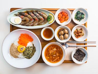 カンジャンセウ丼 おひとりさまご飯 韓国
