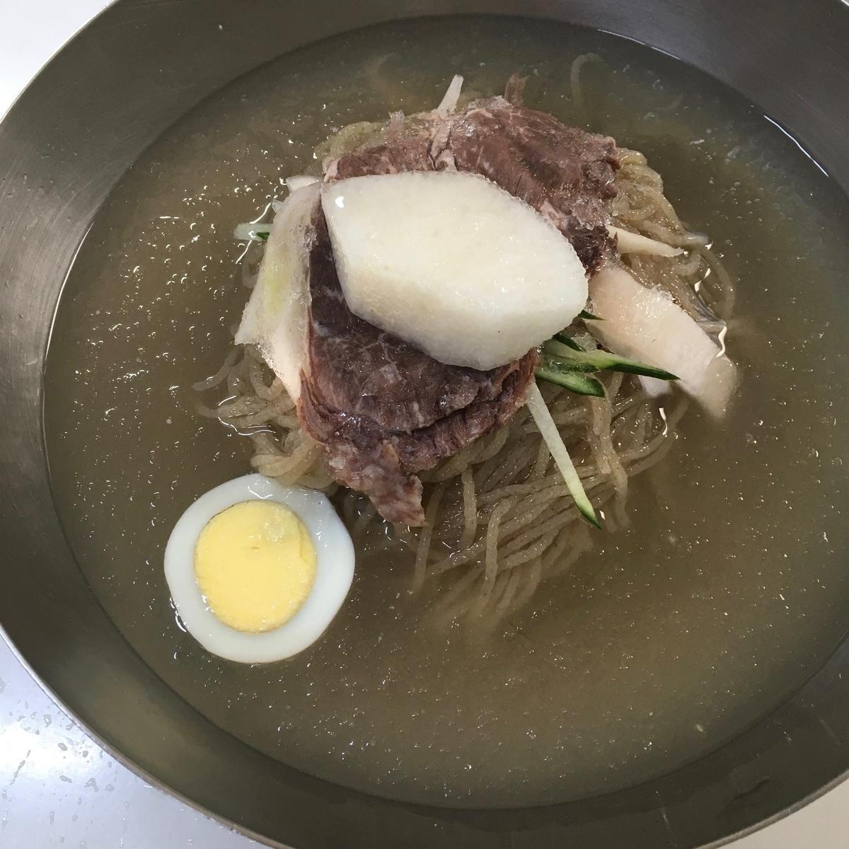 日本で再現できない透明スープ系のお料理 冷麺