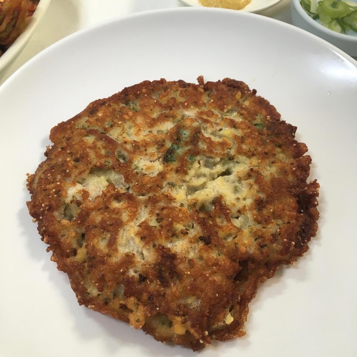 韓国 ソウル 乙蜜台 緑豆チヂミ