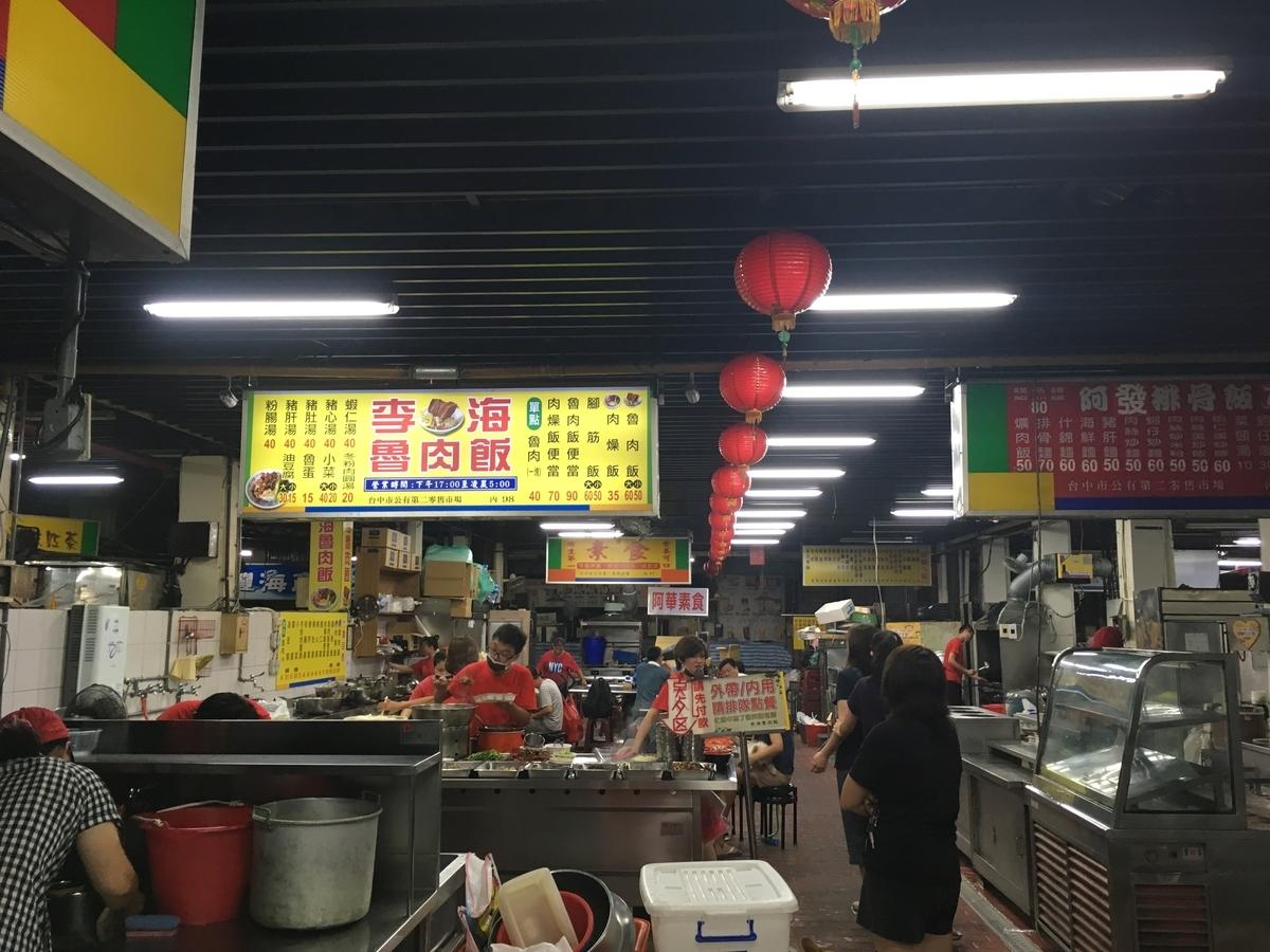 台中第二市場 李海魯肉(ルーロー)飯 外観
