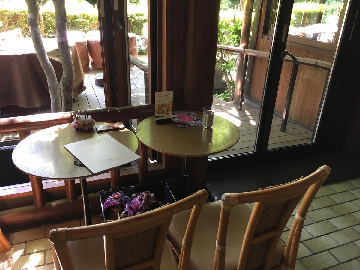 軽井沢万平ホテル カフェテラス 室内席