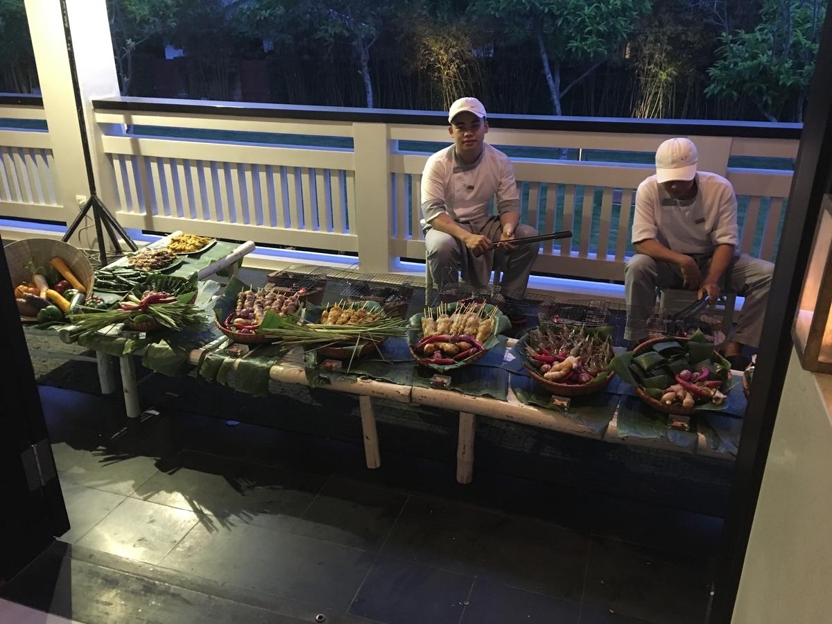 フュージョン・マイア・ダナン ホテルのバーベキューディナー BBQ