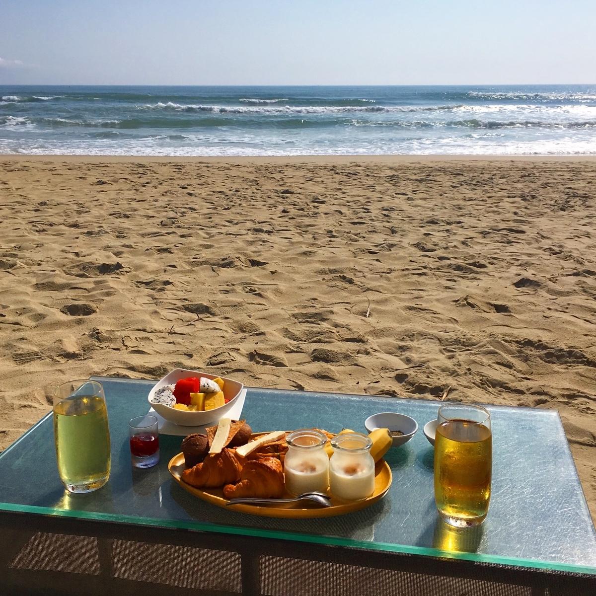 フュージョンマイアダナン ビーチでの朝食