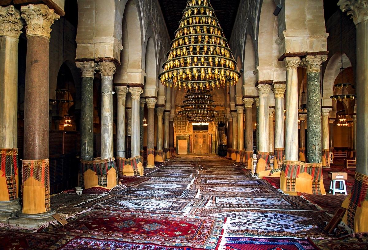 世界遺産検定1級 試験対策 チュニジア 聖都カイワラーン ケロアン 大モスク 内部