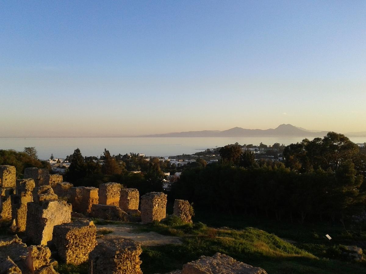 世界遺産検定1級 試験対策 チュニジア カルタゴの考古遺跡 サンセット
