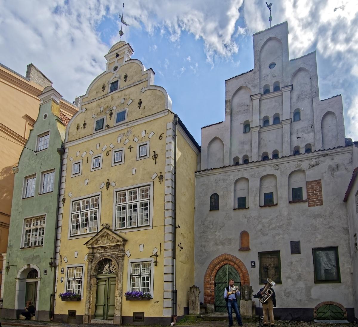 ラトビア リガの歴史地区 旧市街 三兄弟の家