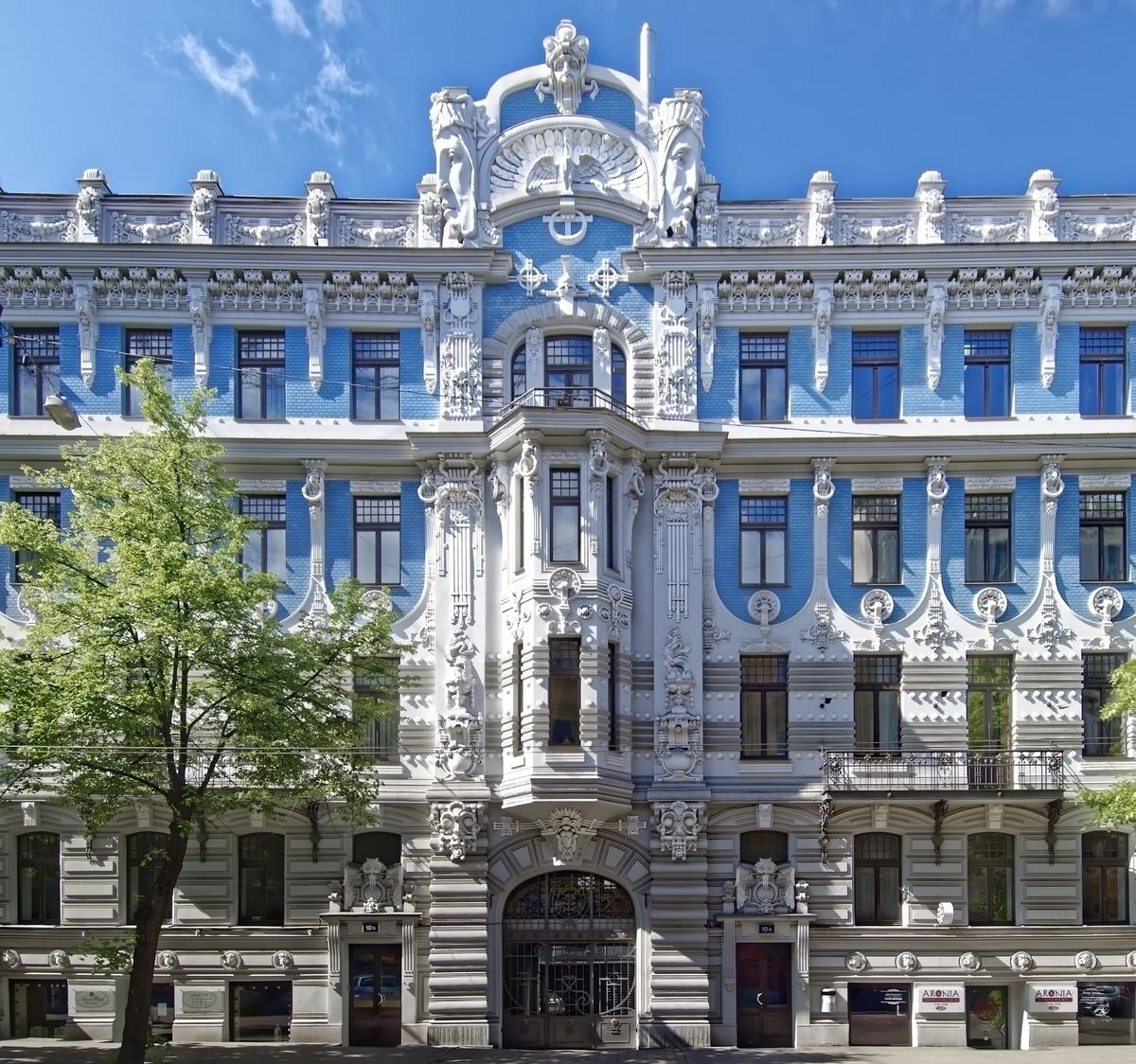 ラトビア リガの歴史地区 新市街 ユーゲントシュティール アール・ヌーヴォー