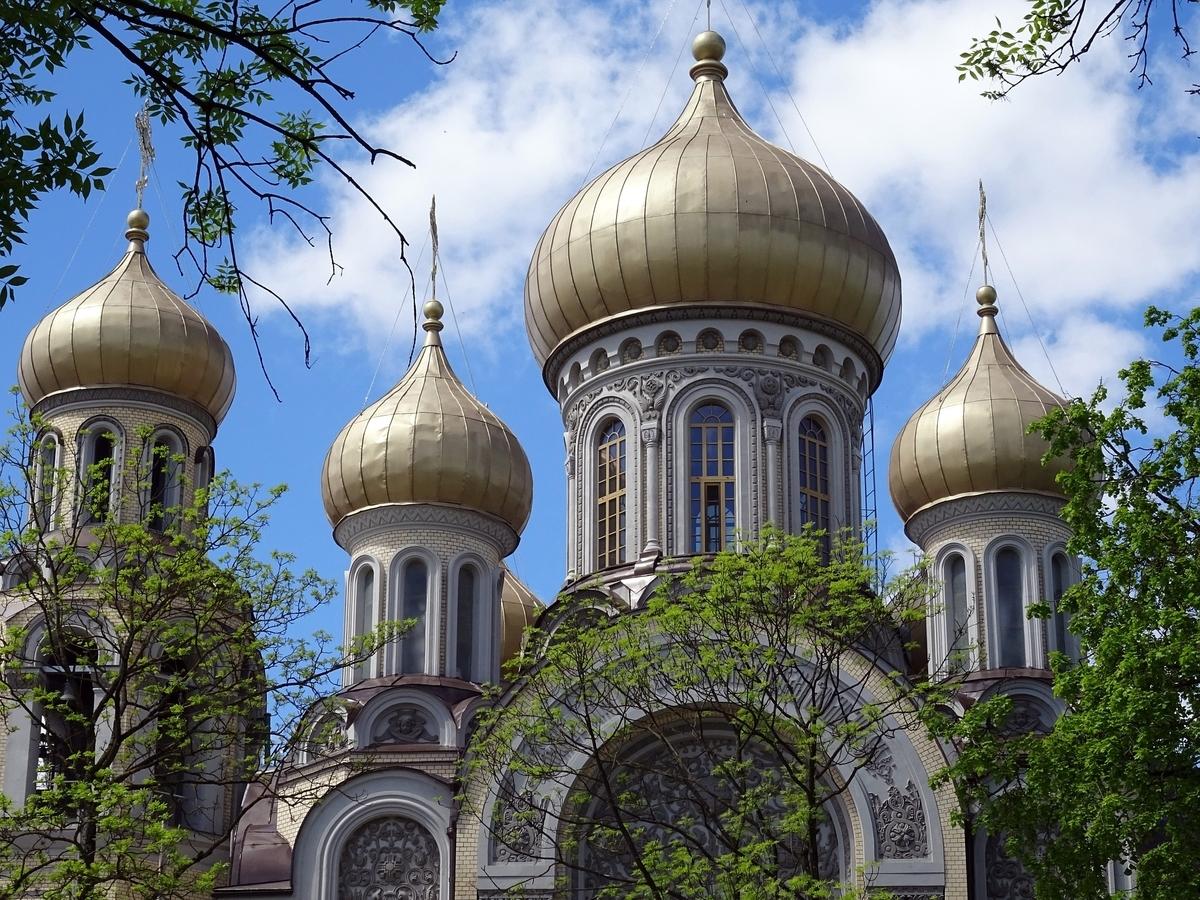 リトアニア ビリニュス歴史地区 ロシア正教の教会 ネギ坊主屋根