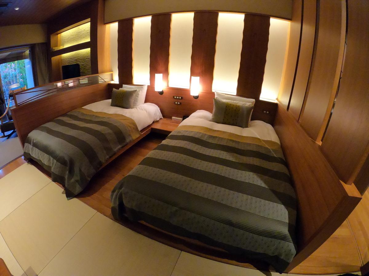 やまぐち湯田温泉古稀庵 「麒麟草」のお部屋のベッドルーム